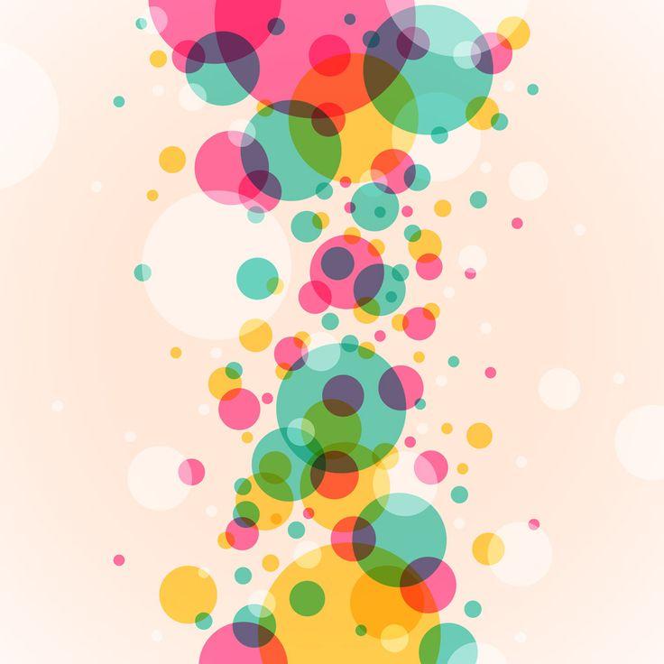[フリーイラスト素材] イラスト, 背景, 抽象イメージ, 円形 / サークル, 水玉 / ドット, カラフル, AI ID:201407280900