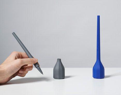 Samuel Wilkinson designs faceted  stationery for Lexon