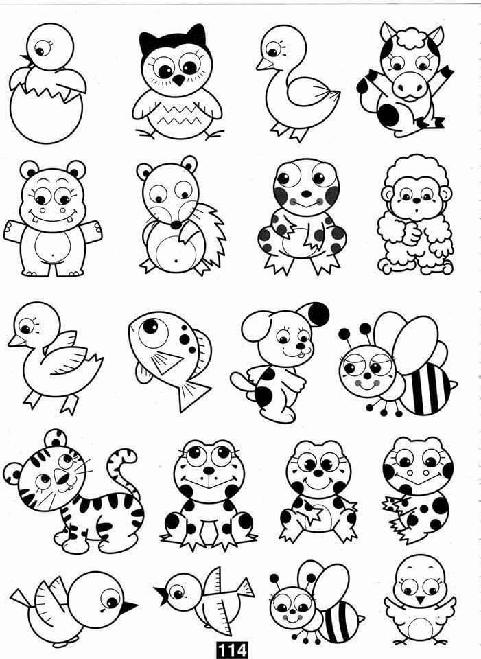 Pin De Adriana Elizabet Aveiro En Animales Para Colorear Dibujos