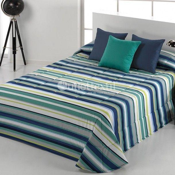 Edredón IRIS Barbadella Home. Sencillo diseño a rayas donde predominan los tonos en azul o en rojo. Descubre los nuevos diseños que nos ofrece la firma Barbadella Home.
