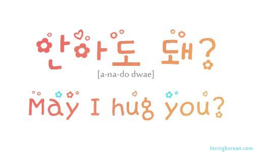 Hangul Question : May I hug you?