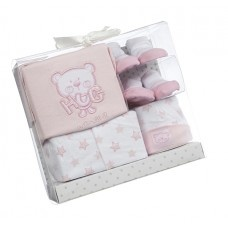 Beautiful newborn gift set. Contains two pairs of socks, vest, baby grow and cute little hat! £9.99