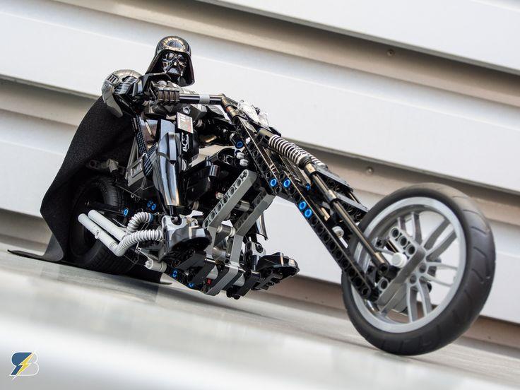 Darth Vader's motorcycle - 42036+42050 https://rebrickable.com/mocs/MOC-10882/kbalage/darth-vaders-motorcycle-4203642050/?utm_content=buffer44600&utm_medium=social&utm_source=pinterest.com&utm_campaign=buffer #lego #legostarwars