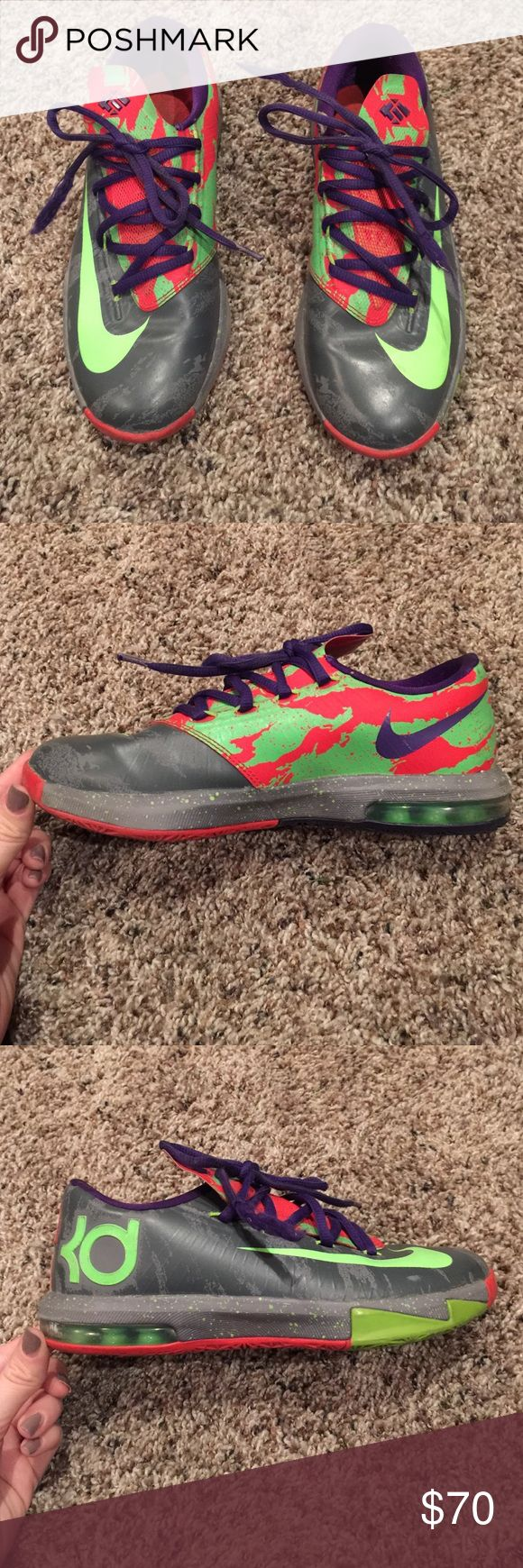 Nike KDs Size youth 4. These shoes were only worn for basketball games, not everyday wear. Excellent condition. Nike Shoes Sneakers