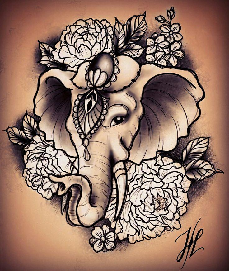 17ec85d020a07449ceeef8e4808e7333 elephant tattoo design elephant tattoos
