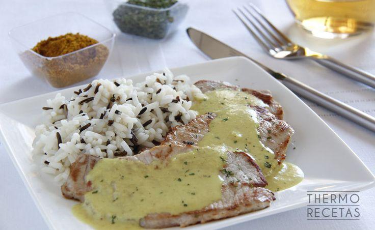 Lomo de cerdo con salsa al curry - http://www.thermorecetas.com/lomo-de-cerdo-con-salsa-al-curry/