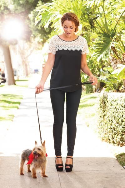 lace shoulder top and my favorite mary-jane heels #holiday {lc lauren conrad}