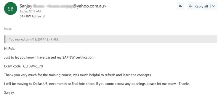 Learn SAP BI #sap #bw #training, #sap #bi #training http://savings.nef2.com/learn-sap-bi-sap-bw-training-sap-bi-training/  # Frequently Asked Questions The online training market is flooded with SAP training courses. The majority are nothing more than word documents with a few SAP screenshots or low quality pre-recorded live training sessions going over powerpoint slides in broken english. We re proud to lead the pack in SAP BI/BW training by providing a practical, hands on training…