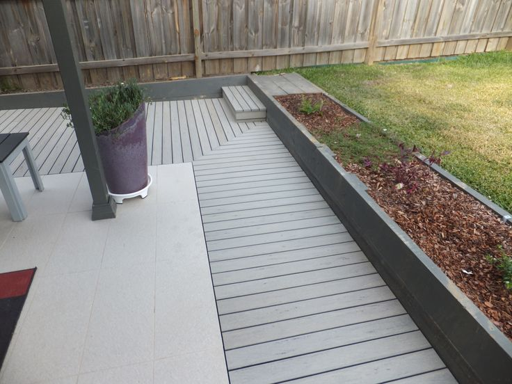 Composite decking, looks brand new for a long long time