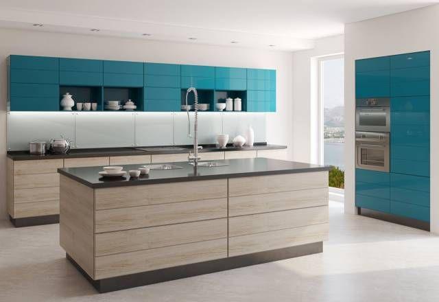 Бирюзовые шкафы для посуды фото
