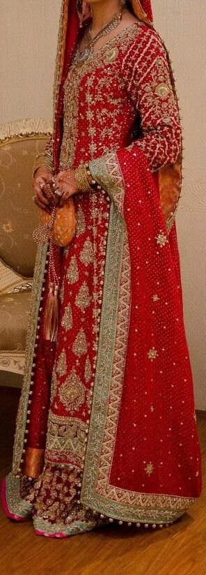 Samia Ahmed Bridal Couture love the red and aqua