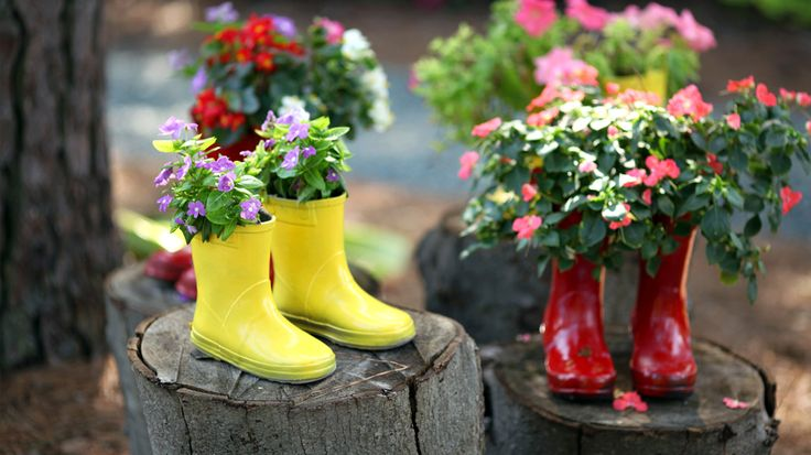 Upcycle your Wellington boots with our quirky ideas for the home and garden.