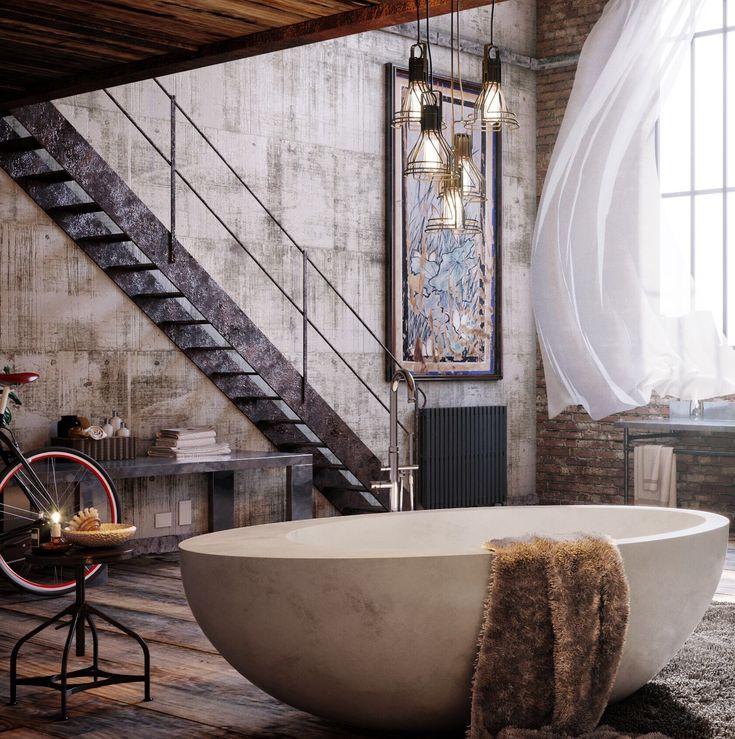 Wonderful Concrete Bath In White   Meek Bathware