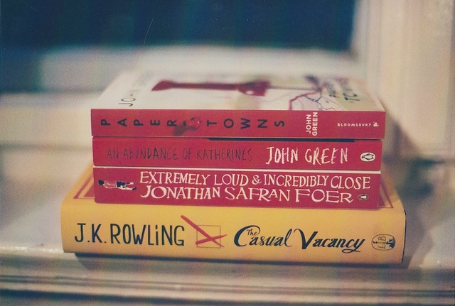 to read. (excluding already-read paper towns and an abundance of katherines.)