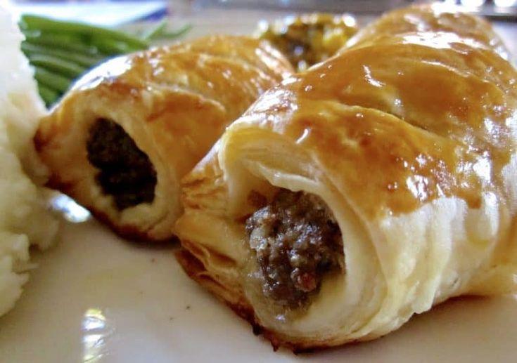 Hausgemachte schottische Wurstbrötchen … Großartig für einen Snack oder eine Mahlzeit – Christina's …