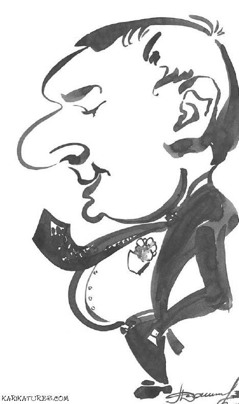 Caricature of the Boss - Karikatures.com #art #caricature #cartoon #boss #bossday #custom #ink #handdrawn