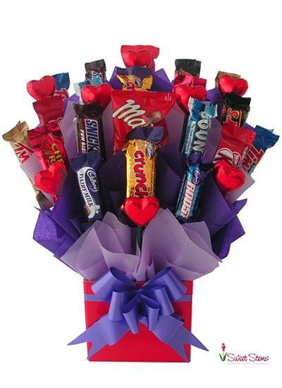 Love of Chocolate Bouquet | Florist Sydney Melbourne Brisbane Canberra Adelaide Perth Darwin Hobart Australia