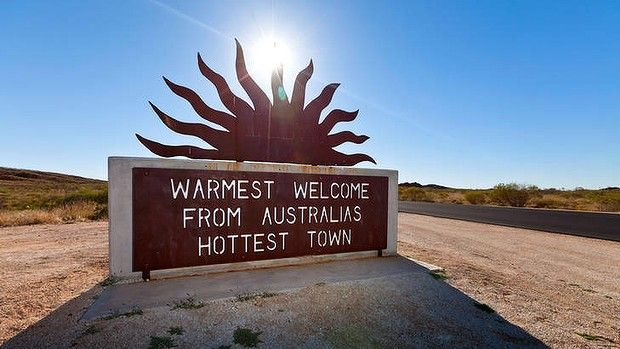 Marble Bar, Western Australia -- Australia's Hottest Town -- Between October 1923 and April 1924, the town set a world record of 160 consecutive days of temperatures above 37.8 celsius.