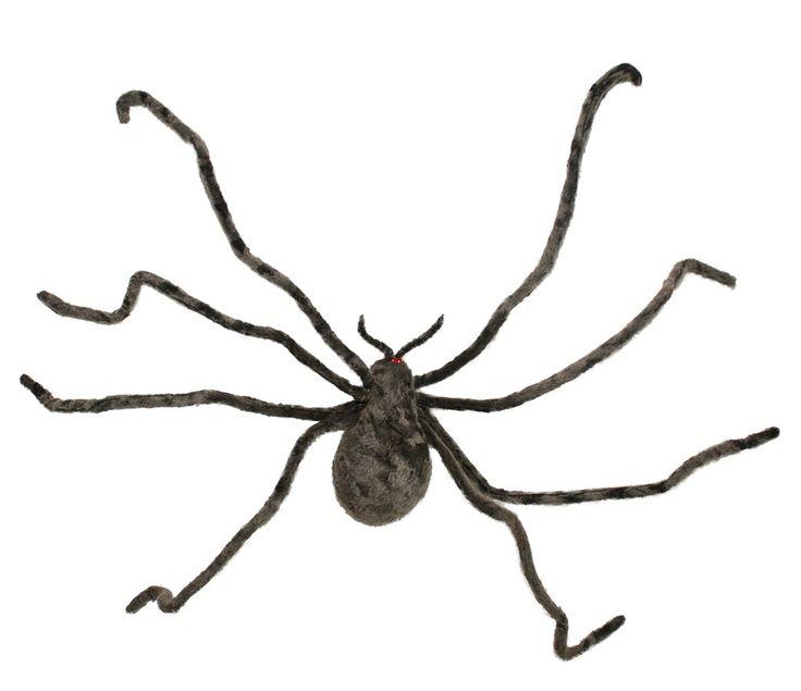 43 inch grey fuzzy spider halloween d cor brown