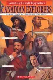 Cover of: Canadian Explorers by Maxine Trottier