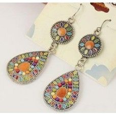 Boho Long Drop Earrings - 4 Different Colours