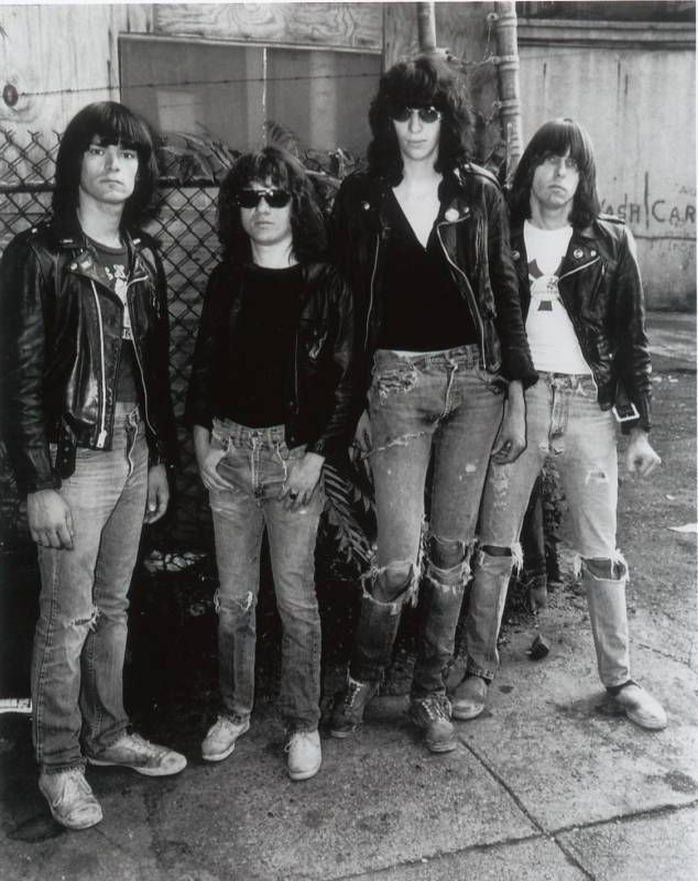 The Ramones photographed by Michael Ochs, 1977