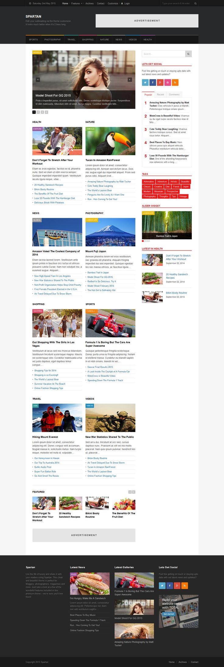 Spartan - News, Blog, Magazine WordPress Theme #blogtheme #wordpress #wpblog Live Preview and Download: http://themeforest.net/item/spartan-news-blog-magazine-wordpress-theme/8989923?ref=ksioks