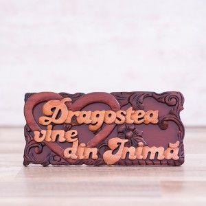 "Tablou din lemn ""Dragostea vine din inima"" #woodenboard #christianmessage #love"