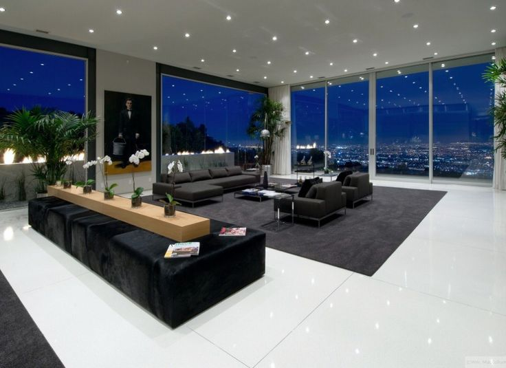 20 moderne Wohnzimmer mit herrlichem Ausblick #au…