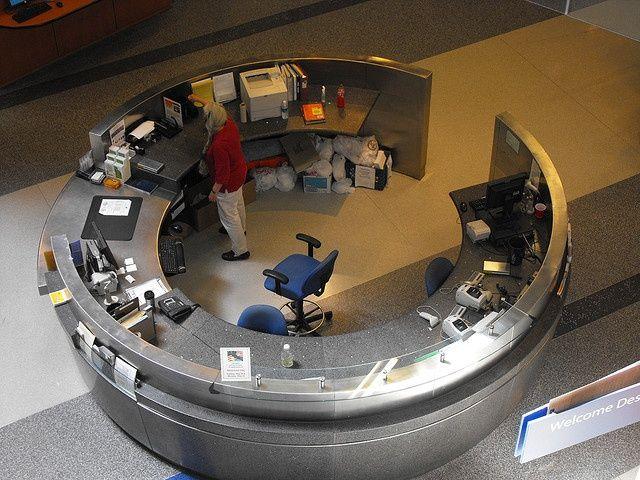 Circular Reception Desk