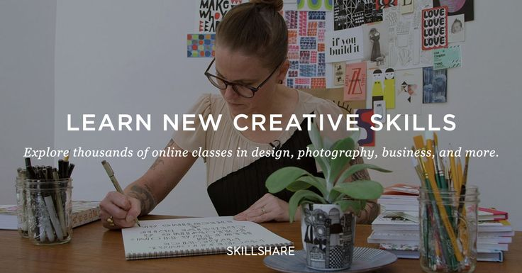 Learn on Skillshare
