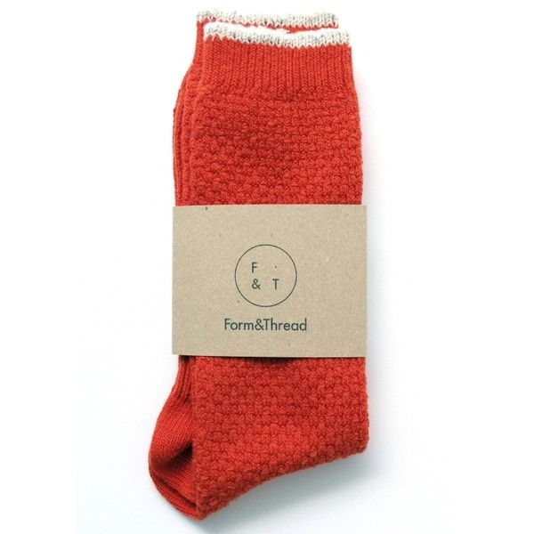 Orange Textured Knit Socks ($13) ❤ liked on Polyvore featuring intimates, hosiery, socks, striped socks, stripe socks, orange socks and orange striped socks