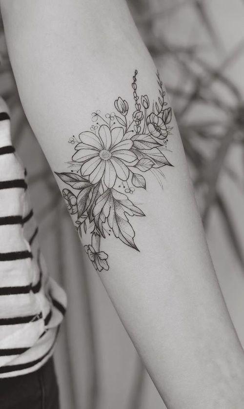 Картинка с тегом «tattoo and flower»