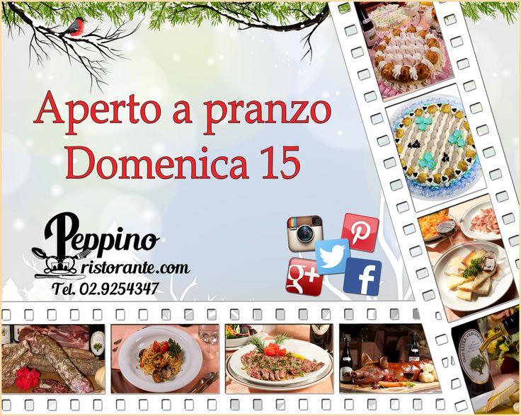 Aperto a pranzo Domenica 15 Gennaio. #aperto #pranzo #domenica #gennaio #carugate #peppino #peppinocarugate #open #food