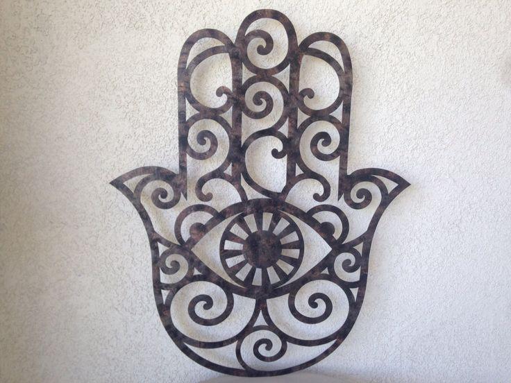 Faux Hamsa Metal Wall Art  Rustic Metal Art  by INSPIREMEtals, $160.00