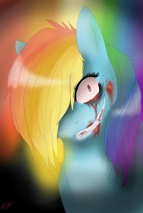 Rainbow Factory http://creepypasta.wikia.com/wiki/Rainbow_Factory A My Little Pony fanfic.