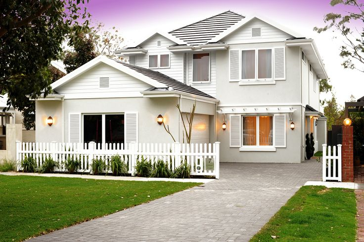 Hampton Style Home front elevation, by the team at nhbb.com.au
