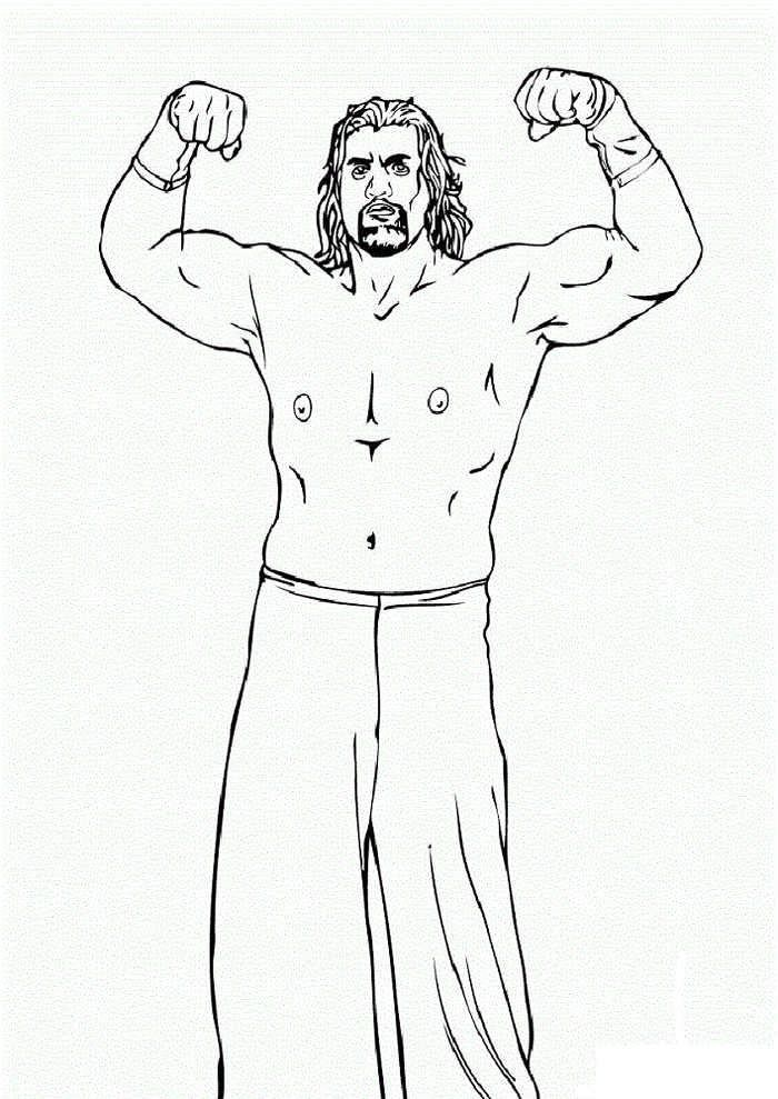 Wwe Roman Reigns Coloring Pages Di 2020