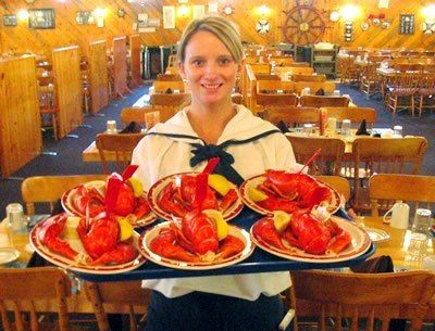 "Our 400 seat lobster supper dining room offers a 60 ft salad bar, All-You-Can-Eat Mussels, and Seafood Chowder!  As you enter ""The Wharf"" you will select y"