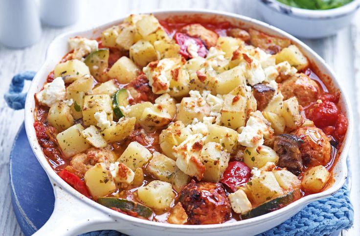 Turkey meatball and aubergine bake   Tesco Real Food ...