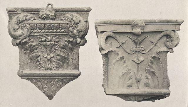 Anonimo , Anonimo fiorentino - sec. XV - Motivi decorativi geometrici e vegetali; Stemma - insieme