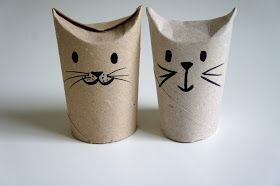 Ideas from the forest: Craft idea, Cute cats