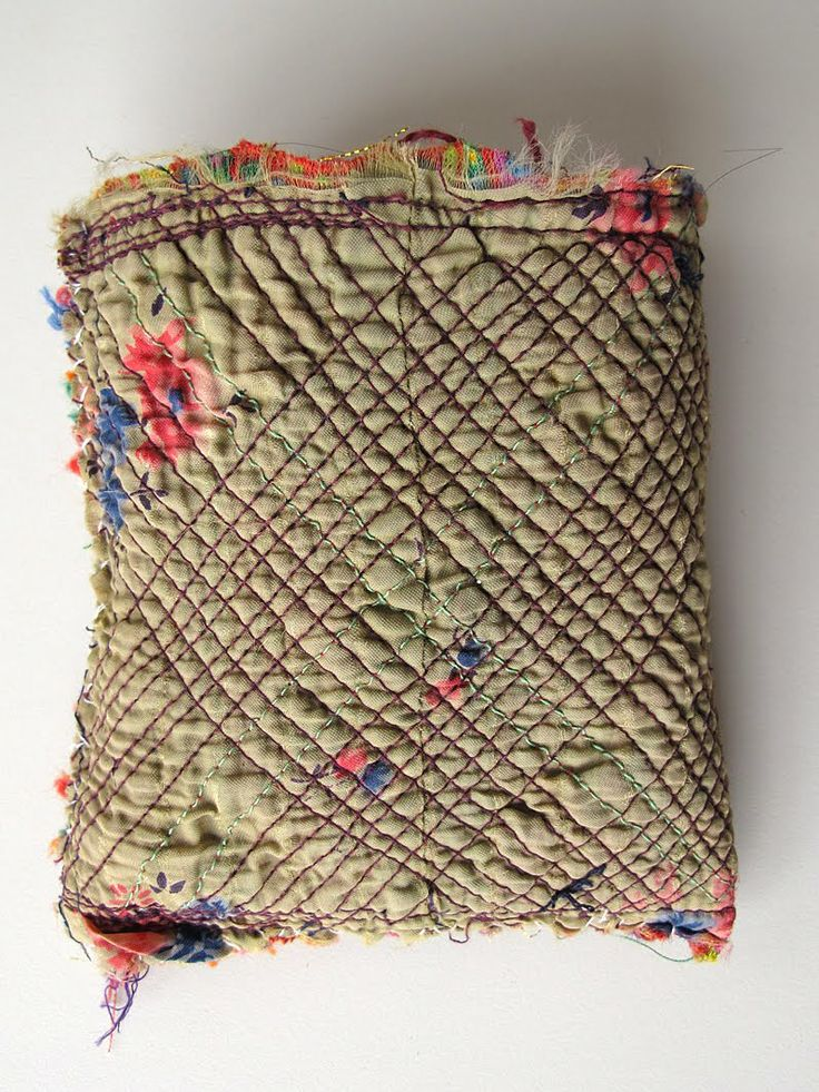 Interior of a bag sewn by Nirona tribal women in Kutch, India