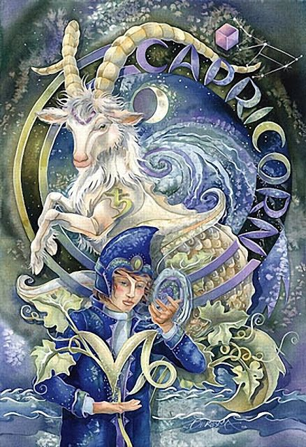 ♑ Capricorn:  Capricorn psychically knows the pace of life. When it is time for them to grow, they start before any clues are out there or any information is available. They make the intense changes at the right times in their lives. They are born old souls, with innate wisdom. (The Psychic Zodiac@darkmoontarot.tumblr.com)
