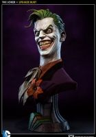 DC Comics présente le Joker. Buste en résine à l´échelle 1/1 mesurant environ 75 x 38 cm avec socle décor. Modèle au niveau de détail exceptionnel, l'expression du visgae est superbe. Fini et peint à la main en édition limitée par Sideshow.