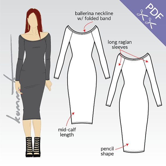 City bodycon dress sewing pattern free download pdf york and company