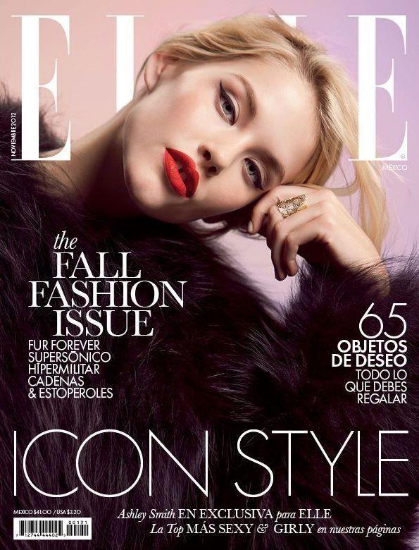 Magazine: Elle Mexico November 2012  Model:Ashley Smith   Shoot: Santiago Ruiseñor