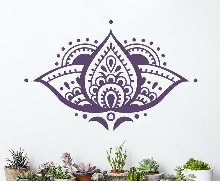 Wandtattoo - Wandtattoo Lotusblüte Mandala Aufgleber - ein Designerstück von…