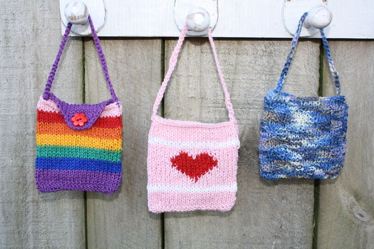 My favourite little tooth fairy bags are made from Poppets, a wee ball of yarn from Countrywide Yarns.