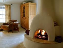 adobe fireplace